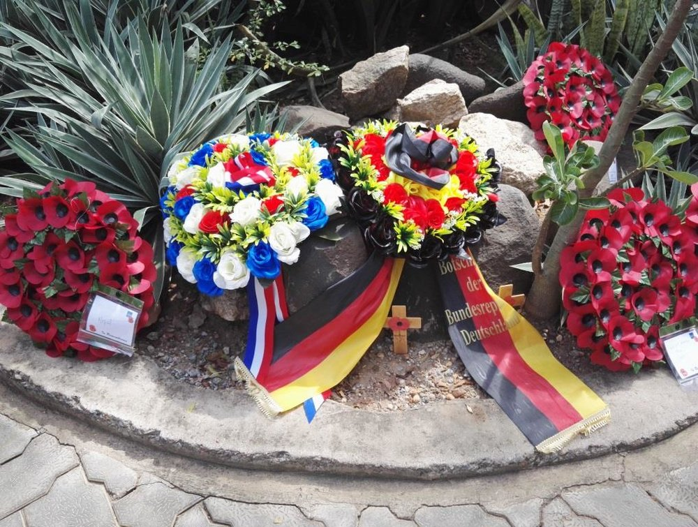 Franco-German floral wreath on the occasion of the remembrance ceremony on November 11th