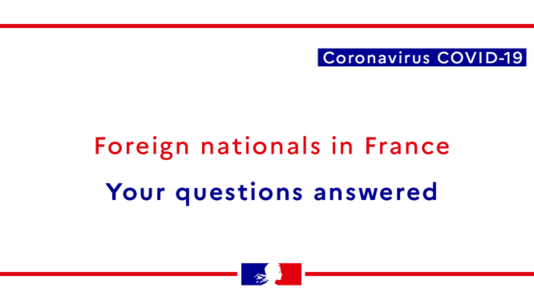 Coronavirus - Advice for Foreign Nationals in France